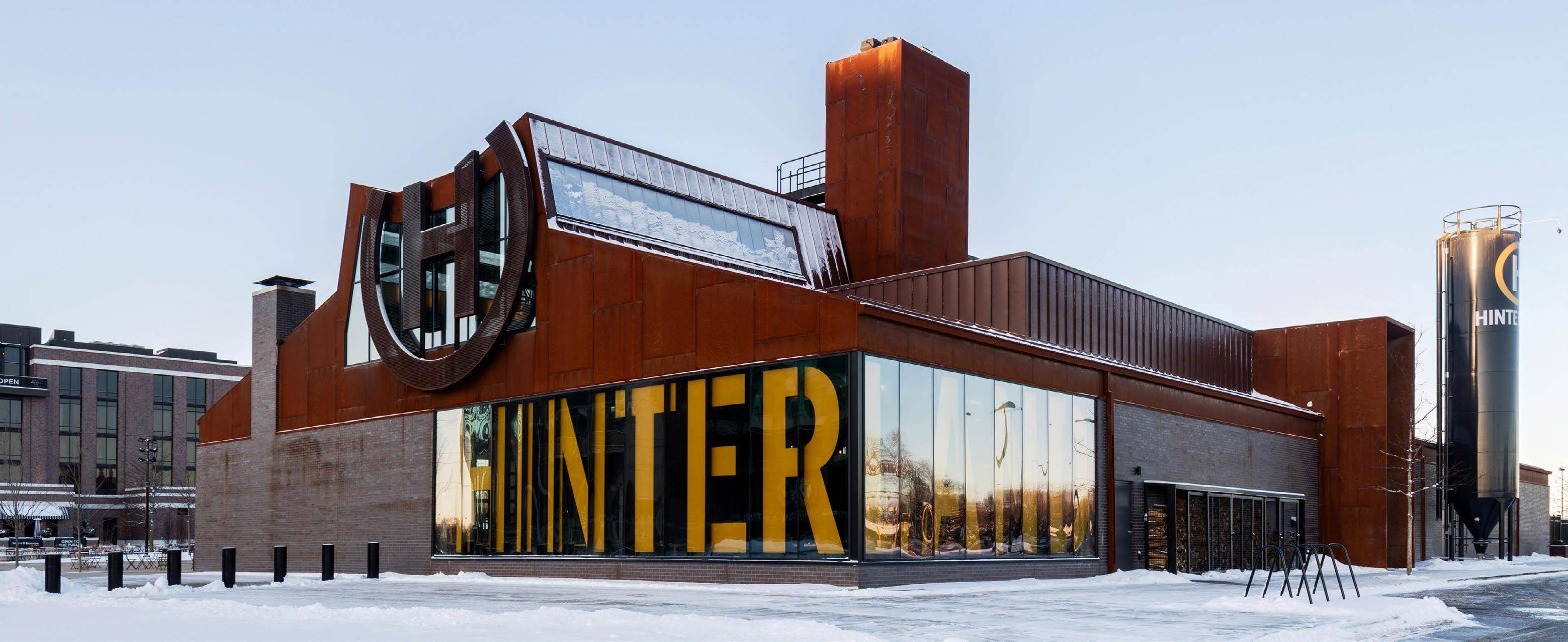 A Modern Industrial Brewery Metal Architecture