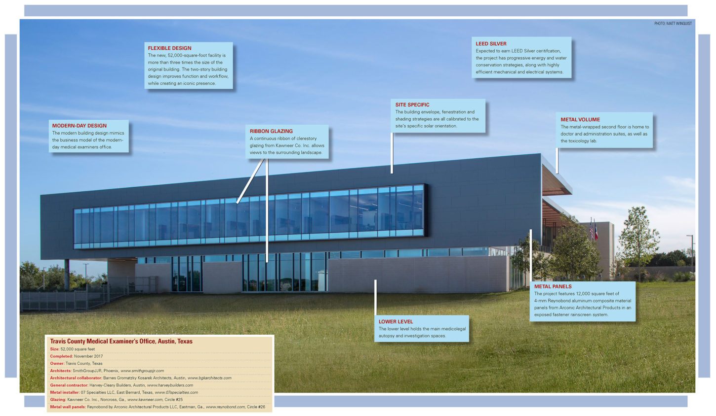 functional forensic facility metal architecture