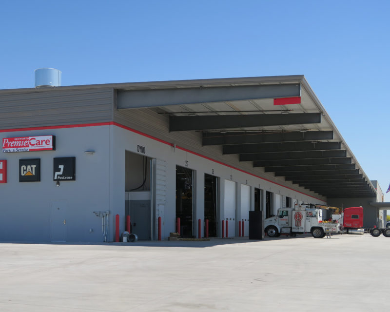 Lord Constructors Inc Designed Four Buildings And A Drive Through Canopy For Inland Kenworth Ltd With American Co S Rigid Frame Framing System