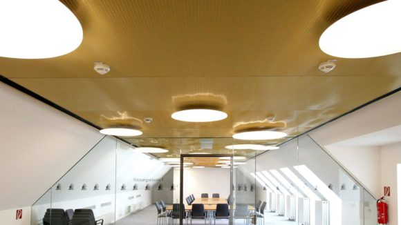 Metal Mesh Ceilings Transform Historic Building