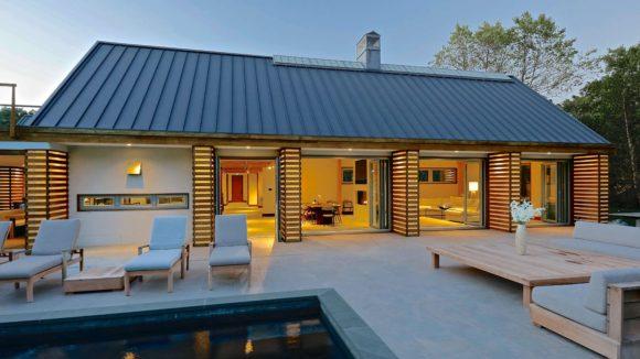 Modern Green Barn House