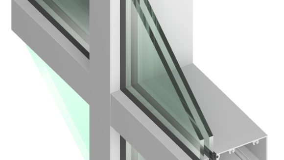 Curtainwall is glazed in factories, on job sites