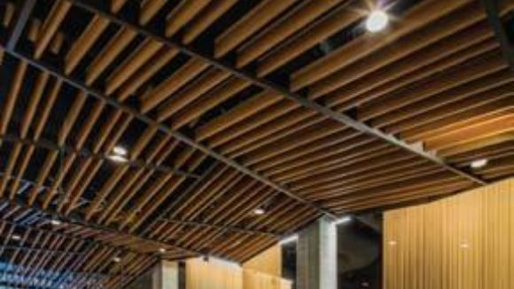 Aluminum beams fit ceilings, walls