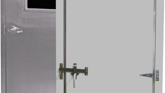 Doors contain insulating core