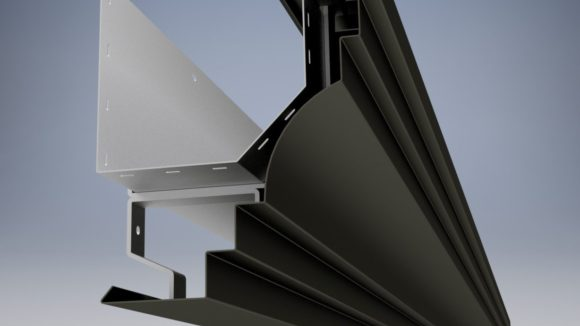 Gutters feature two-piece design