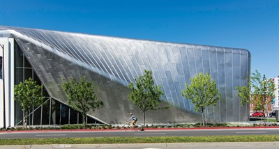 The Berkeley Art Museum and Pacific Film Archive is the Smooth Metal Wall Panel Winner in the 2017 Metal Architecture Design Awards.