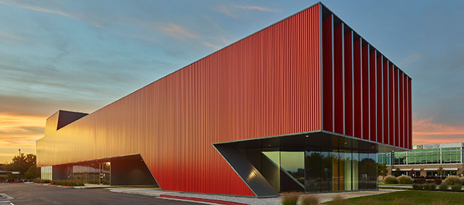 Harvey Pediatric Clinic in Rogers, Ark., is the Ribbed Metal Wall Winner in the 2017 Metal Architecture Design Awards
