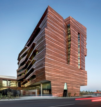 The Biomedical Sciences Partnership Building, Phoenix, is a Judges Award winner in the 2017 Metal Architecture Design Awards