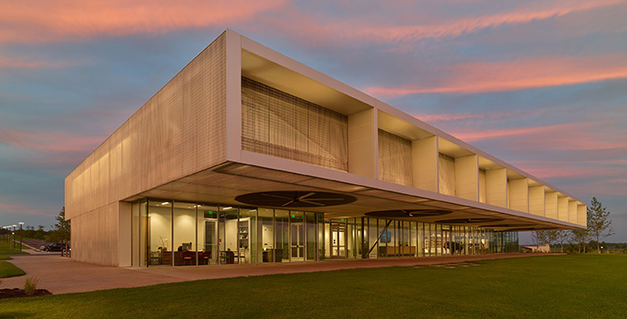 The First Tennessee Visitor Center at Shelby Farms is the Grand Award Winner in the 2017 Metal Architecture Design Awards