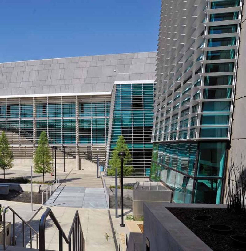 Sunshades and south facing walls metal architecture - Tarrant county college interior design ...