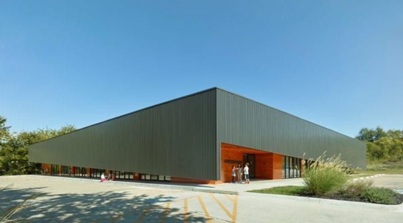 Remarkable Ribbed Renovation Metal Architecture