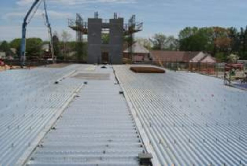 Utility Equipment Resides On Metal Roof Metal Architecture