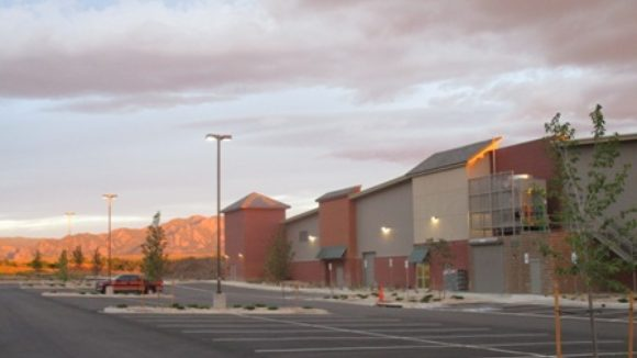 Metal building forms sports facility
