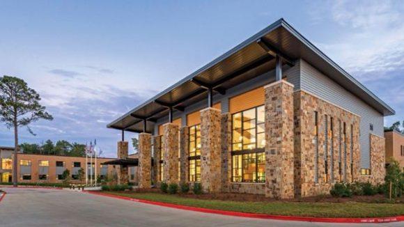 Metal roof tops academic building