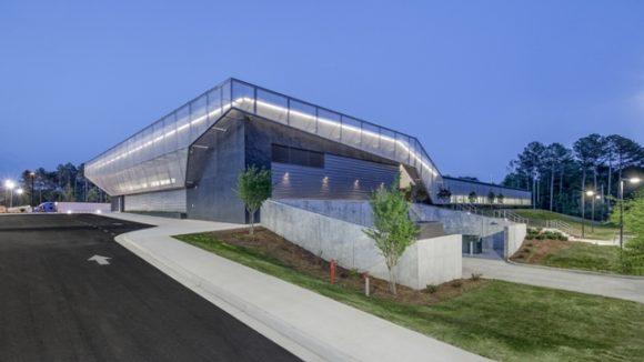 Metal mesh shades science center