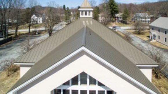 Church's leaking roof replaced with metal