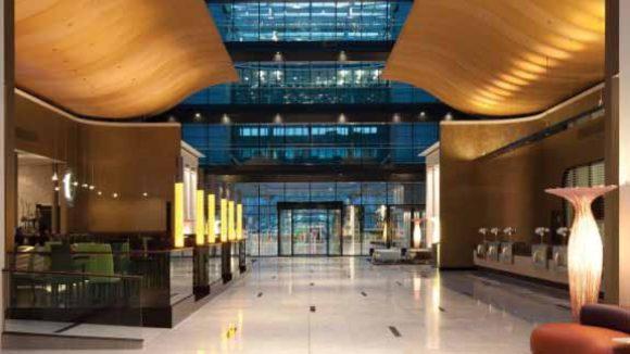 Hilton Frankfurt Airport Hotel Lobby, Frankfurt, Germany