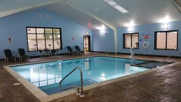 Metal building provides year-round pool access
