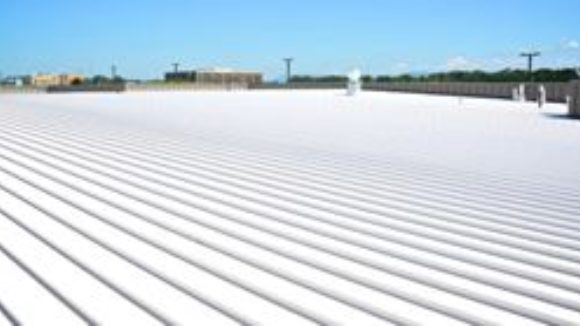 Metal roof boards aircraft maintenance facility