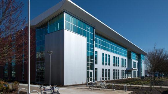 Metal panels make building fully passive