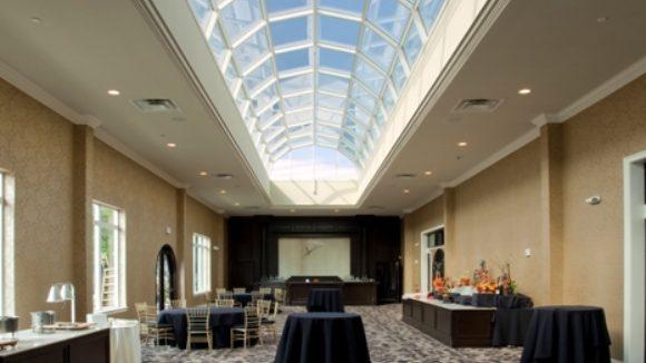 Custom skylight highlights catering venue
