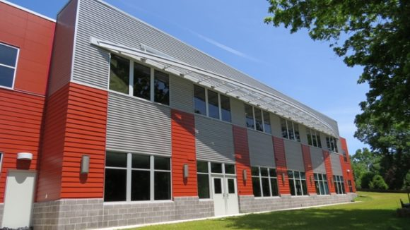 Sunshades blend school in with surroundings