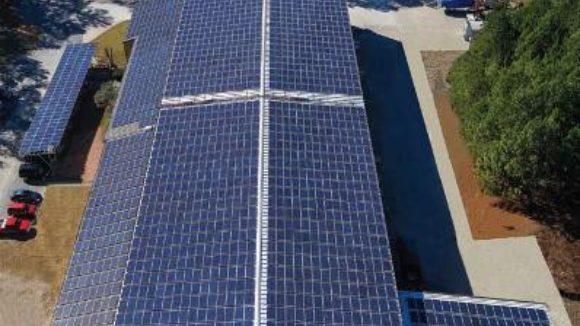 Panel producer retrofits solar installation