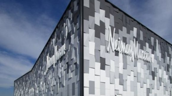 3-D panels cover retail store