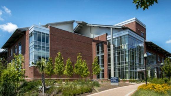 Academic building features metal roof