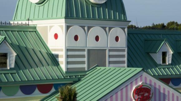 Metal roof tops children's resort