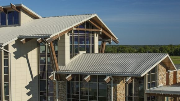 Detailed roof completes health care design
