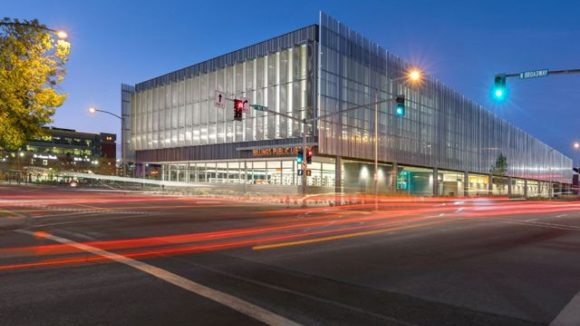 Perforated hat channel contributes to library's sustainability