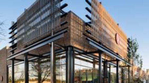 Steel screens clad retail complex