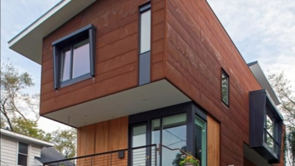 Steel warms residential design