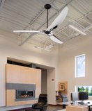 Big Ass Fan's 84-inch Haiku84 ceiling fan's aircraft- grade aluminum airfoils are hand-polished for a mirrored finish.