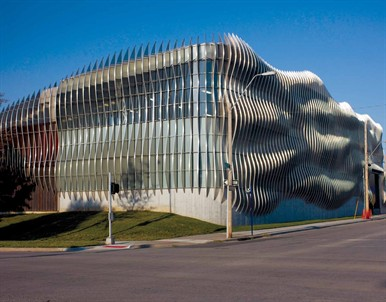 A Cloud Wall With Wow Metal Architecture