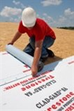 Firestone Building Products' CLAD-GARD SA Underlayment is a self-adhered metal roofing underlayment with a non-reinforced, rubberized asphalt waterproofing membrane for flexibility, adhesion and traction.