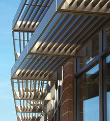 Effective Exterior Sun Control Devices Use Metal Architecture