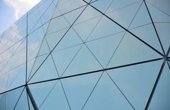 Triangular Panels Shape Museum Model Metal Architecture