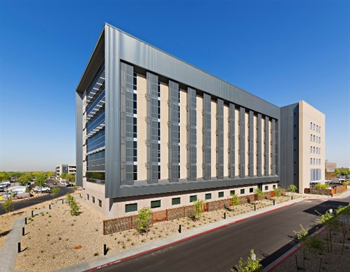 A project goal for Banner Estrella Medical Center in Phoenix was to expand the facility, move away from copper as a primary element and maintain a cohesive aesthetic.